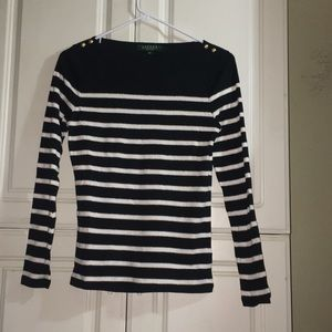 STRIPED LONG SLEEVE WITH SHIMMERS